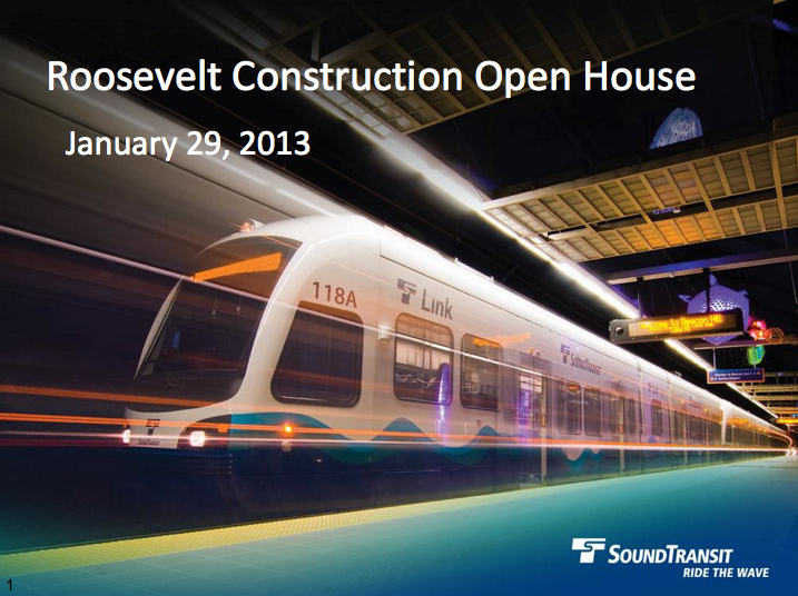 Roosevelt Station Construction Open House presentation (2.8 PDF)