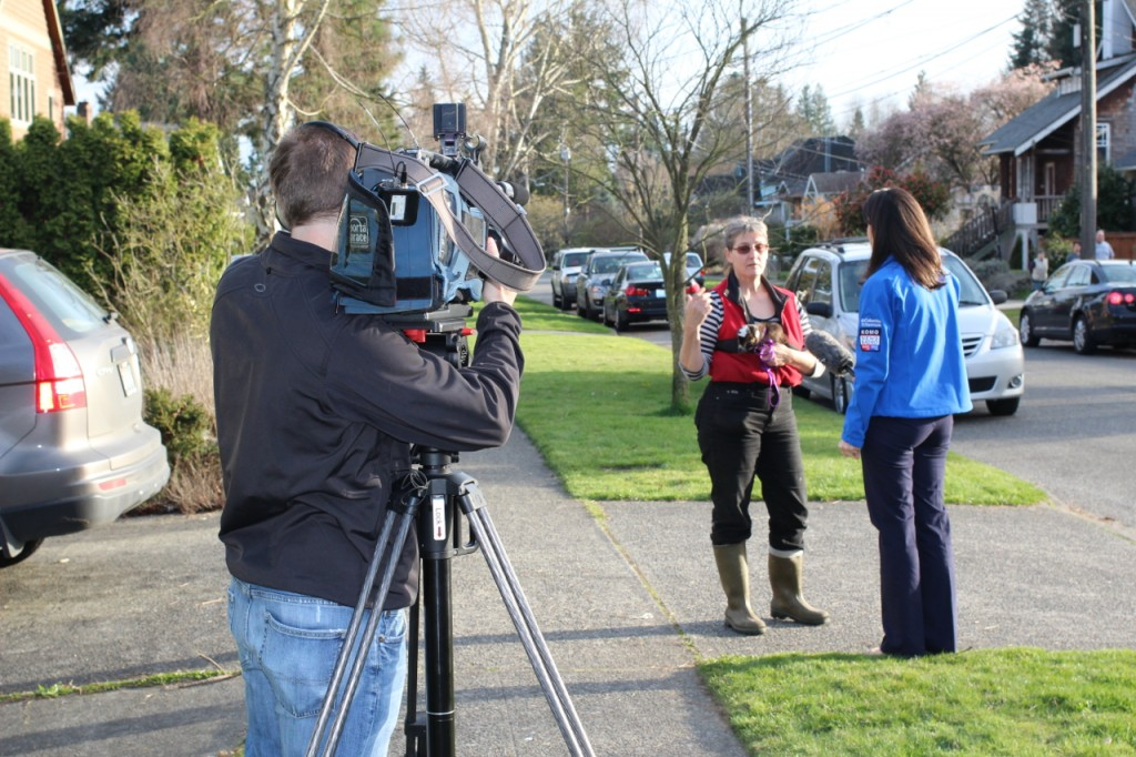 KOMO's Kristen Drew interviews Lacia Bailey about her eyewitness account of the incident.
