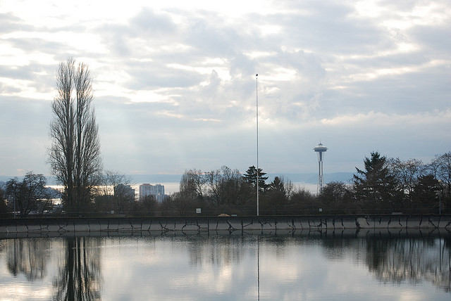 Volunteer Park Reservoir in 2008, by Flickr user stevevoght