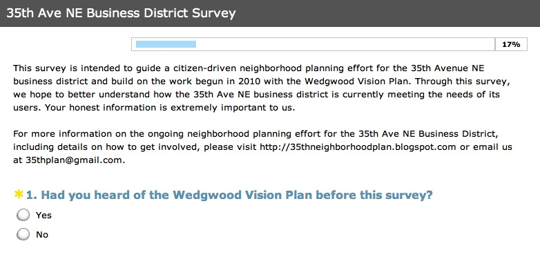 Click the image above to take the 35th Ave NE Business District survey (through July 14th)