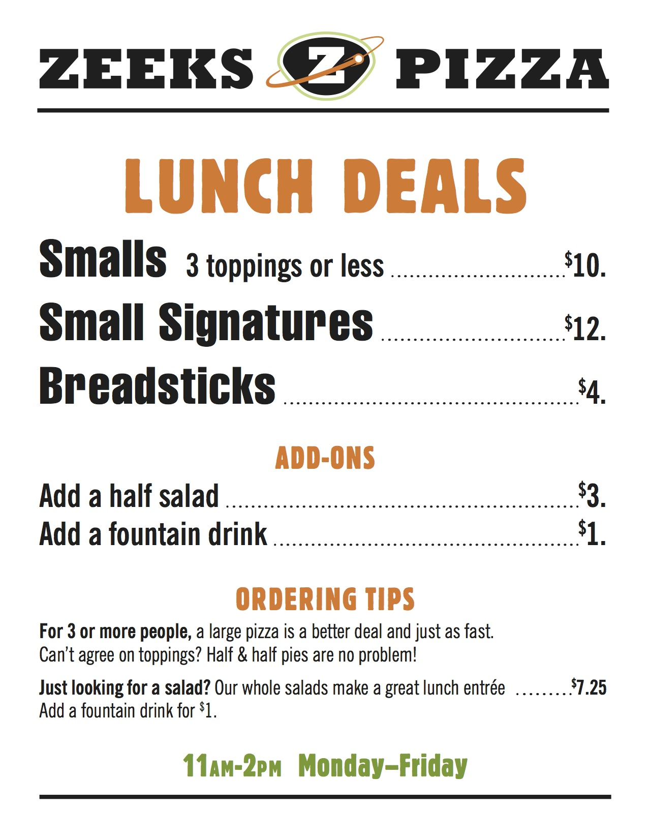 ZEEK_Lunch Specials_MAY2014