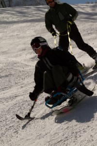 Sit Skiing. (Photo by Outdoors For All, used with permission.)